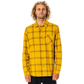 Rip Curl Checked Out LS Flannel Shirt Men mustard